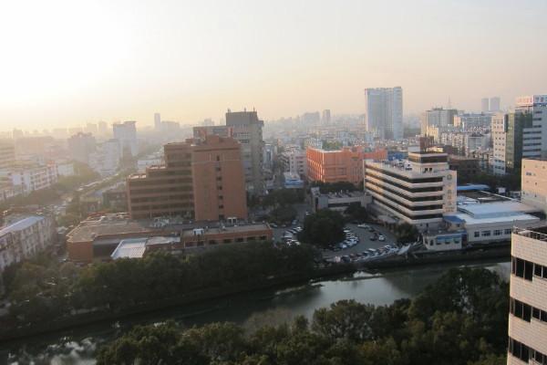 view from the room of Howard Johnson Plaza Ningbo