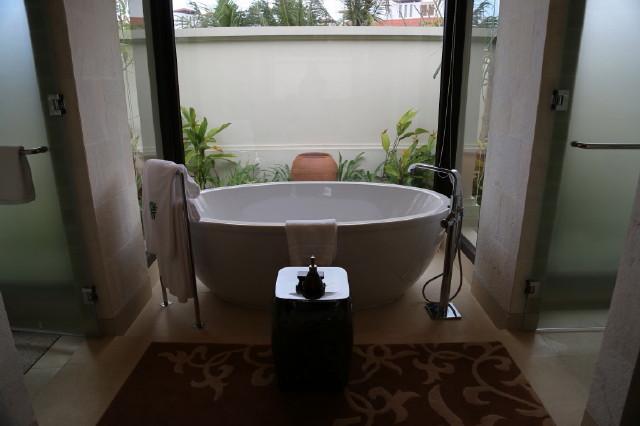 a huge bathtub