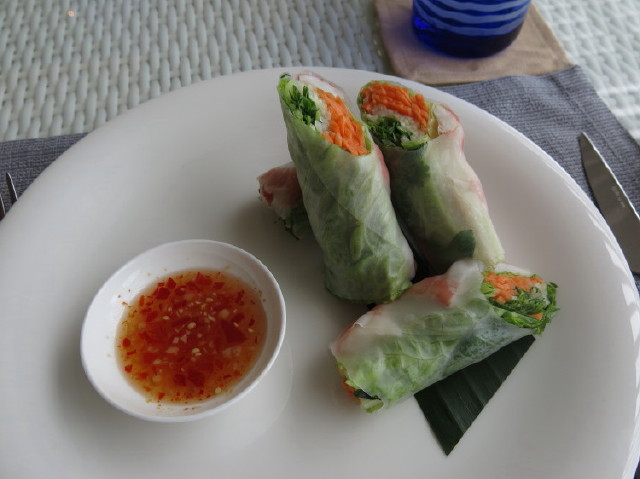 the spring roll was so tasty!