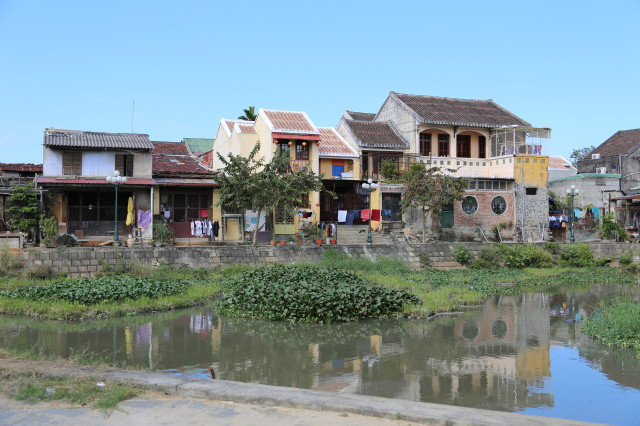 Colonial style building in Hoi An old quarter